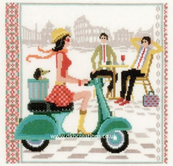 Vintage In Rome Cross Stitch Kit